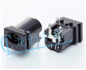 DC POWER JACK 90° DIP pin∅0.9mm