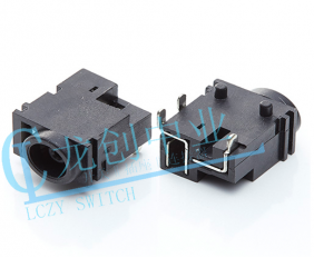 DC POWER JACK 90° DIP pin∅1.0mm