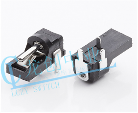 DC POWER JACK 90° DIP pin∅1.3mm