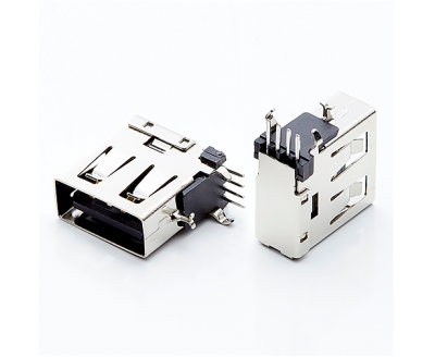 USB A Type Female ConnFlank90°